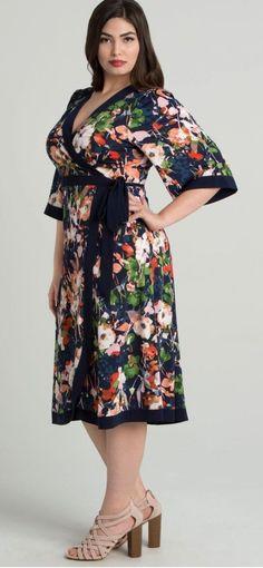 Plus Size Wrap Dress - Plus Size Fashion for Women #plussize #PlusSize#outfits