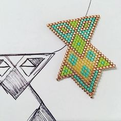 Futur pendentif acidulé et... Géométrique @lucie_chpnt merci pour l'inspiration #miyuki #perlesandco #jenfiledesperlesetjassume #collier #bleu #citron #vertanis #miyukiaddict #beads #blue #pendant #colors #miyukidesign #création #lovetobead #miyukibeads #miyukibead #miyukidelicas #glassbeads #japanbeads #necklace