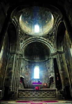 High on the walls of Gandzasar Monastery, on each side of the altar, two images of the guardian angels appear, made not by the human. These images have got more and more clear over the years, and now immediately strike the eye..