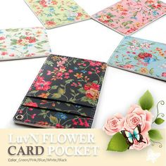 Flower Lanyard ID Card Pocket Holder/ Lanyard ID Card Pass Pocket Holder