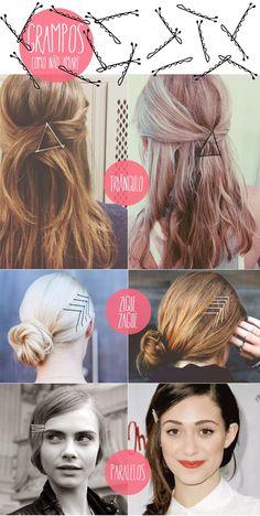 Ricota Não Derrete: 15 formas de usar grampos no cabelo