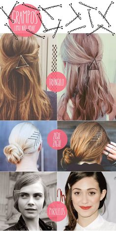 15 formas de usar grampos no cabelo - Ricota Não Derrete