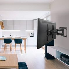The Best TV Wall Mount, According to Happy Homeowners - The Best TV Wall Mount Options for Your Entertainment Center Best Tv Wall Mount, Swivel Tv Wall Mount, Wall Mounted Tv, Mounting Tv On Wall, Bedroom Tv Wall, Wall Tv, Curved Tvs, Moving Walls, Desks