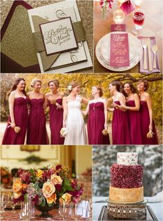 2015 Color Trends - Red Marsala & Gold, Wedding, Bat Mitzvah Party Ideas on mazelmoments.com