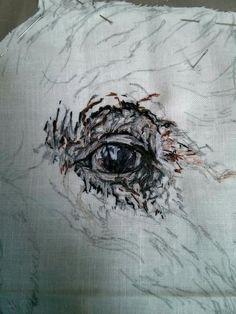 emily tull (@houdiniem) | Twitter Embroidery Art, Embroidery Stitches, Lovers Eyes, Thread Painting, Portrait Art, Textile Art, Art Inspo, Fiber Art, Weave