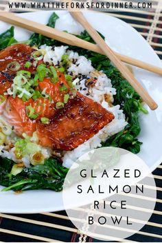 Glazed Salmon Rice Bowl.....Amazing!!!