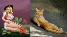 Cats That Look Like Pin-Up Girls Are Endlessly Amusing
