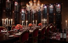 Host a party, banquet, wine-tasting or special event in Faena's wine cellar, home to Argentina's largest collection of excellent wines. Enjoy personally-selected wines and food from our chefs in this elegant cellar-like space.