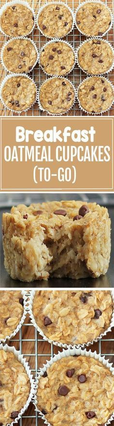 Cook just once, and you get breakfast for an entire month with these healthy bak. Cook just once, and you get breakfast for an entire month with these healthy baked oatmeal cupcakes What's For Breakfast, Breakfast Dishes, Breakfast Recipes, Breakfast Cupcakes, Breakfast Healthy, Breakfast Casserole, Breakfast Fruit, Dinner Recipes, Health Breakfast