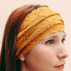 stretch lace headband (etsy shop: BglorifiedBoutique)