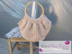 Knot Your Nana's Crochet: Crochet Fat Bag with Bamboo Handles