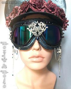 "Goggles: ""Two Dragons"" by MoxieandMojoFashion on Etsy"