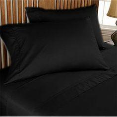 500TC Luxurious Egyptian Cotton Black Sheet Set 4pc
