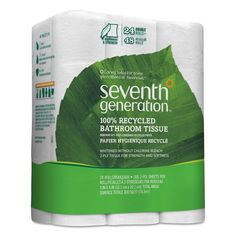 Seventh Generation 100-percent Recycled Bathroom Tissue Two-Ply 500 Sheets/Roll 24/Pack 2 Pack/Carton