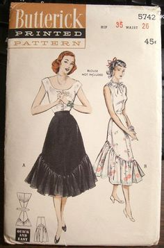 """Butterick pattern  Says reserved and a size 26? when pattern says 26 """" waist probably closer to an 6 or 10 maybe?"""