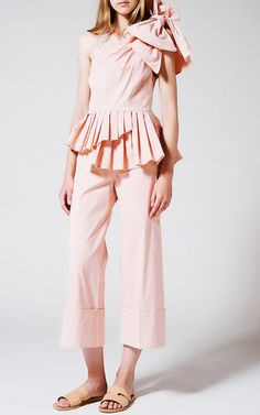 One Shoulder Bow Top by SEA for Preorder on Moda Operandi