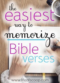 Scripture memorization is essential. Your words are not enough to get you through the tough of life. This post shares the only tip & method you need for memorizing Scripture the easy way! Build your faith with Scripture memorization starting today!