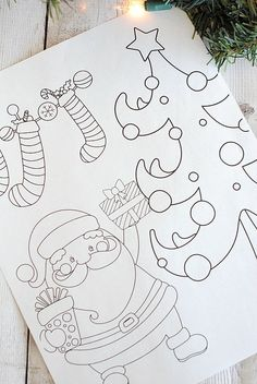 Free Printable Christmas Coloring Pages – Crazy Little Projects