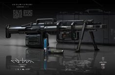 Cool looking futuristic rifle. Sci Fi Armor, Sci Fi Weapons, Weapon Concept Art, Weapons Guns, Fantasy Weapons, Rifles, Cyberpunk, Future Weapons, Future Soldier