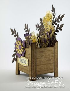 addINKtive designs: A Spring Planter Box Card for the Launch of the Colour Tree Challenges