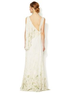 Silk Cowl Printed Gown by Valentino at Gilt