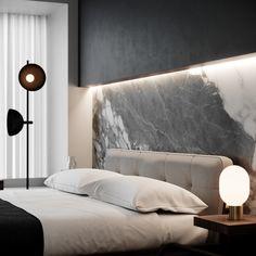47 Modern Bedroom Interior Design - 2020 Home design Modern Bedroom Design, Contemporary Bedroom, Modern Interior Design, Home Design, Design Ideas, Bedroom Designs, Interior Lighting Design, Modern Bedroom Lighting, Hallway Lighting