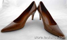 "Womens shoes BANDOLINO ""Riverside"" High Heels Pumps BROWN Stiletto LEATHER 5.5 M #Bandolino #PumpsClassics"