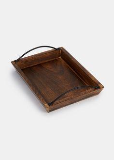 Mango Wood and Iron Coffee Tray | Rodale's