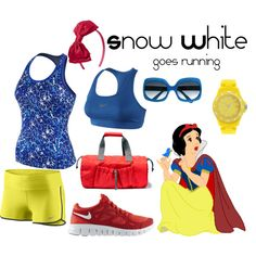 """Snow White goes running"" by angiodancer on Polyvore"