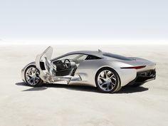 Jaguar C-X75 Concept rear angle.