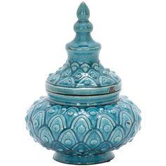 UMA Ceramic Jar ($22) ❤ liked on Polyvore featuring home, home decor, no color, ceramic home decor, ceramic jar, ceramic urn and moroccan home decor