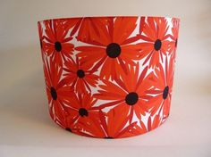 Red daisies lampshade