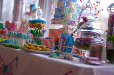 Dessert table at a Candyland Party #candyland #partytreats