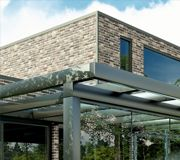 When it comes to finding an ultra-modern veranda, the Ultra Veranda from SunSpaces more than lives up to its name. Pergola Ideas For Patio, Backyard Pergola, Paving Design, Deck Design, Outdoor Rooms, Outdoor Gardens, Modern Gardens, Patio Enclosures, Roof Styles