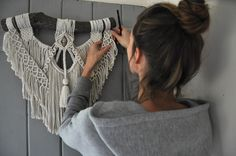 Visada - by Rosie Scott Handmade bohemian macrame using only natural, ethically sourced, Australian cotton and crystals