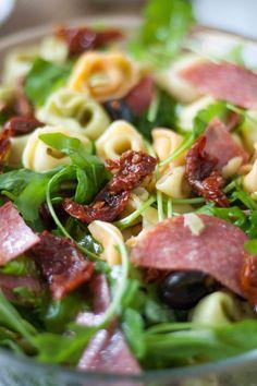 Tortellini, Food Plating, Pasta Salad, Grilling, Food And Drink, Menu, Lunch, Chicken, Vegetables