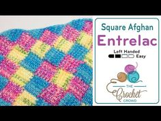 Tunisian Entrelac in a Square Afghan + Tutorial - The Crochet Crowd