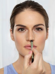Swish a bit of shaping powder on the underside of your nose to shorten it a bit, if length is an issue. - Redbook.com
