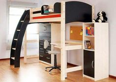Bedroom Furniture Boys loft bed white - google search | for paige | pinterest | high