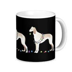 Saluki Christmas Design Classic White Coffee Mug