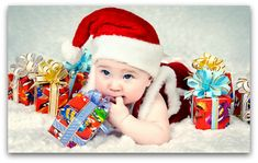 HD wallpapers of cute babies dressed in Christmas outfit and beautiful smile in faces wishing a Merry Christmas. Lovely new born baby Christmas photoshoot images in high quality and printable in full size without any watermark. Christmas Decorations For Kids, Christmas Gifts For Kids, Christmas Child, Christmas Outfits, Santa Christmas, Christmas 2014, Christmas Birthday, Christmas Wishes, Christmas Presents