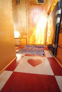 trailer floor <3..Like the flooring in my home..I needed to do the heart...cute idea!!