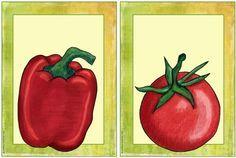 Englisch in der Grundschule: Flashcards vegetables
