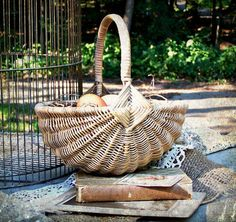 Wicker Paradise is your source for luxurious wicker patio furniture at affordable prices. We offer a wide array of wicker furniture. Vintage Farmhouse, Farmhouse Style, Egg Basket, Country Charm, Farm Life, Wicker Baskets, Rustic Decor, Beautiful Places, Watering Cans