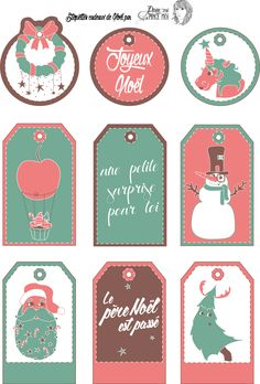 étiquettes cadeaux, christmas gift tag, free printable