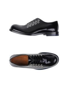 Jil Sander Grommet Laced Derby Oxfords. YOOX.COM.
