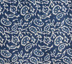 Bomullsduk/lakan blåvit mönste - #textile