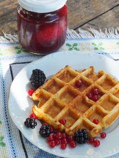 Ízőrző: Túrós gofri Waffles, Pancakes, Abstract, Breakfast, Recipes, Food, Summary, Morning Coffee, Recipies