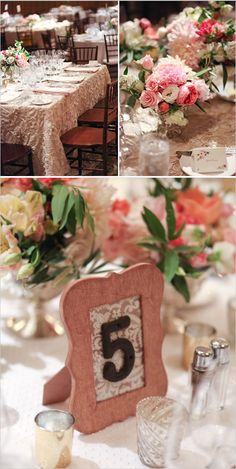Framed table numbers and wedding reception details. Captured By: Becky Schwartz Photography  Studio Benjamin James http://www.weddingchicks.com/2014/06/04/300-plus-wedding-made-intimately-cozy/