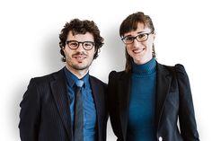 Lija (30) en Rolf (29) Groenewoud van Vliet. Artikel:  Hoe word je verzamelaar van kunst? - NRC